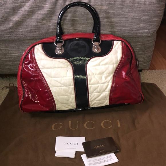 12b1f21079e85b Gucci Bags | Authentic Xl Snow Glam Bowler Bag | Poshmark